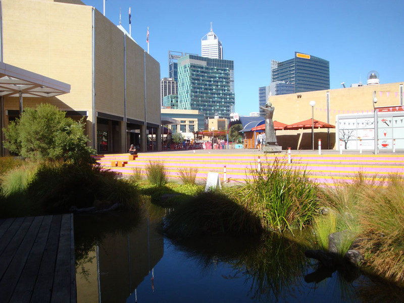 I was thrilled to discover they'd created a wetlands in the heart of the city...