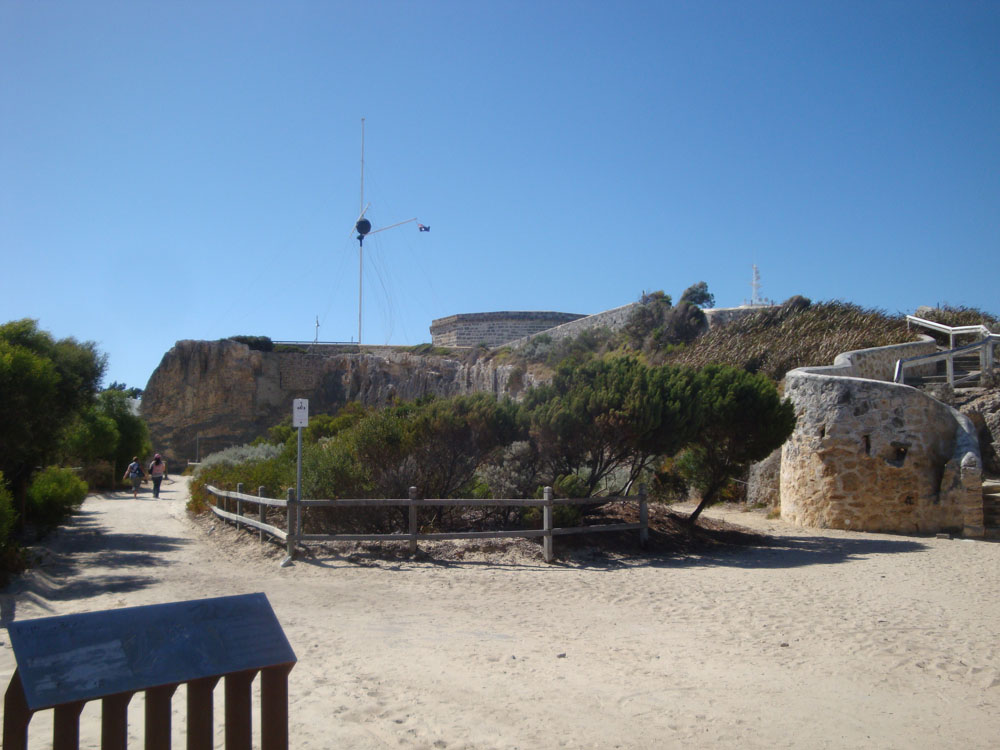 The Roundhouse Gaol on the cliffs above the bay was built by the first convicts under armed guard, to house themselves.