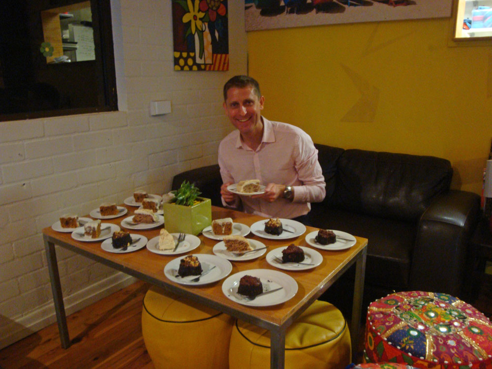 Banana Lounge. My ulterior motive for giving all these talks were the cakes. It was really a vegan cake tour of Australia :)