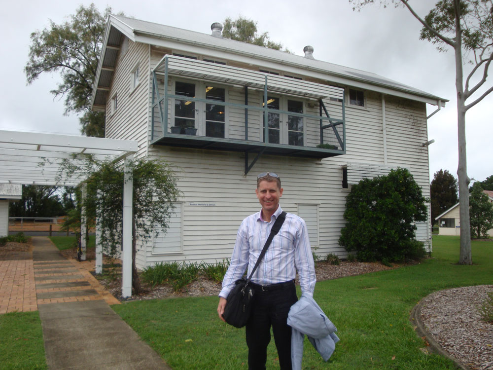 The White House. Less commonly known as the Centre for Animal Welfare and Ethics, at the University of Queensland veterinary school. I think it's the only such centre at an Australian vet school, although we have centres for bioethics at other universities.
