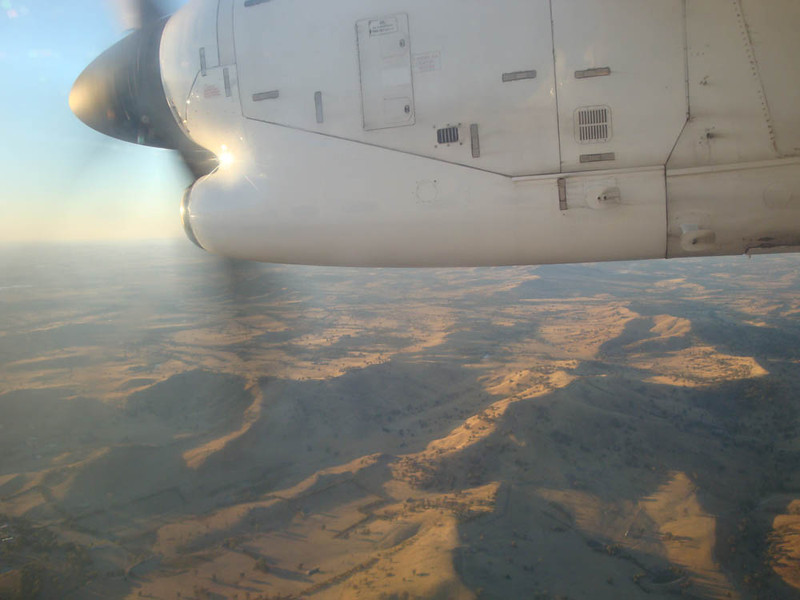 On the flight there I was reminded what a spectacularly vast, arid and ancient land my country is.