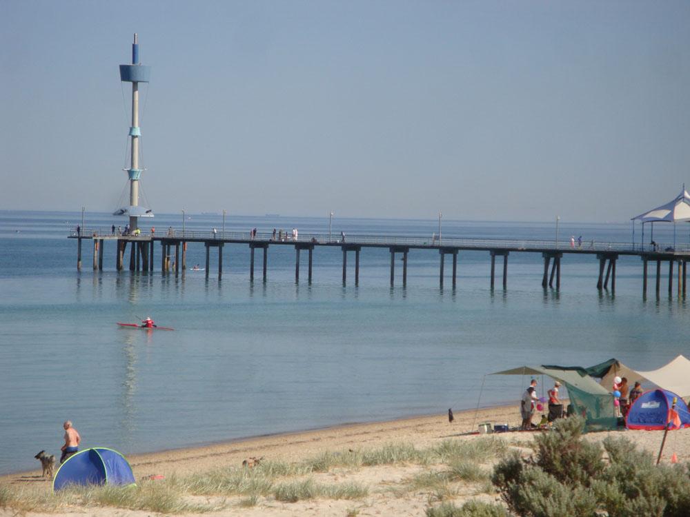Brighton jetty - part of Mum's view