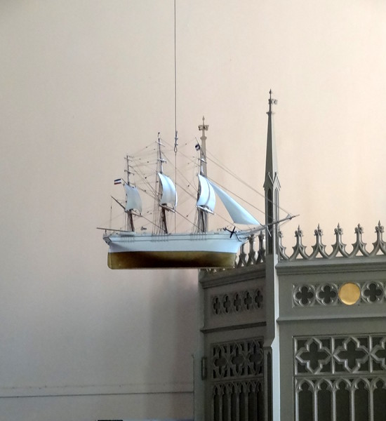 this still boggles my mind.....people build model ships and donate them to the church and expect them to be hung in the Nave.  Fascinating!