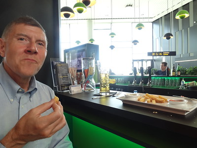 """lww3  cad3 csw3Good Burger in Copenhagen Airport -where's the burger?  looks like you ordered fries!  :Dwe chowed it down; it was REALLY good!  """"just a typical burger you get in Denmark,"""" said our lovely server...."""