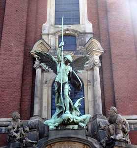 csw3St. Michael defeating SatanSt. Michael's Church, Hamburg