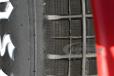 Up close view of a Hoosier Tire