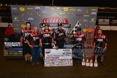 John Blankenship and crew in Victory Lane