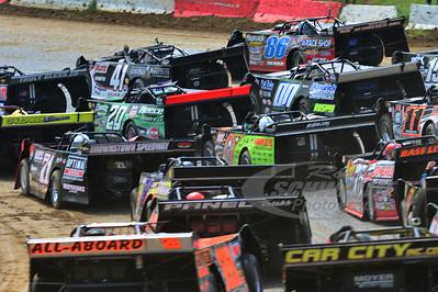 4-wide Parade Lap @ Batesville Motor Speedway