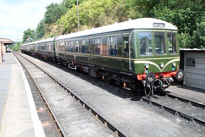 DMU M50933_M56208_M51941_M59250_M52064 seen at Bewdley Station Sidings.