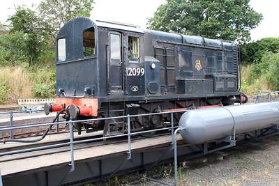 Class 11 D12099 on Kidderminster turntable.