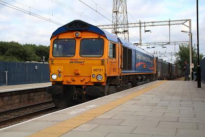 66721 1847/4k80 Peterborough-Rugeley passes again having run round its train.