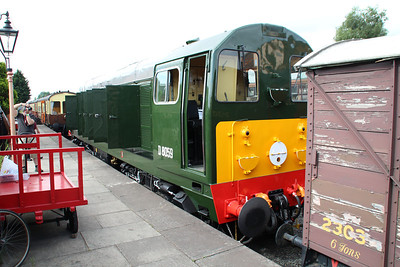 Newly Painted Class 20 D8059 (20059) stands at Kidderminster station SVR.