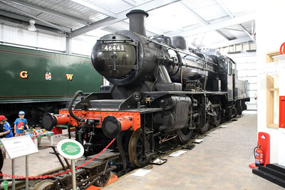 2MT 2-6-0 46443 in Highley Museum.
