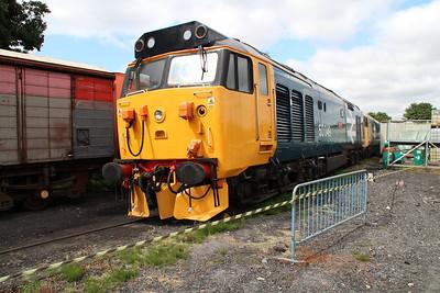 Class 50 50049 'Defiance' in Kidderminster yard.