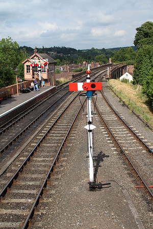 Bewdley Station view from the footbridge.