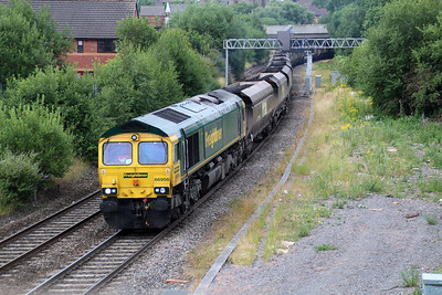 66956 0835/6m12 Portbury-Rugeley passes Rye Croft Jct, Walsall.