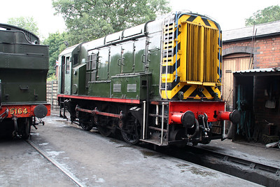 Class 08 D3586 (08471) on Bridgenorth Shed.