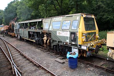 Tamper DR73202 at Highley sidings.