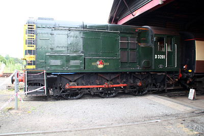 Class 08 D3201 (08133) at Kidderminster Carriage shed.