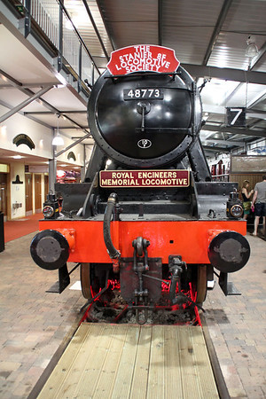 8F 2-8-0 48773 in Highley Museum complete with headboards.