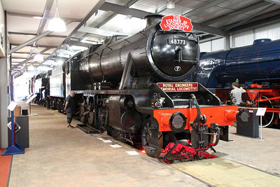 8F 2-8-0 48773 in Highley Museum.