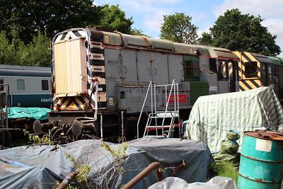 Class 09 09012 'Dick Hardy' in Kidderminster yard.