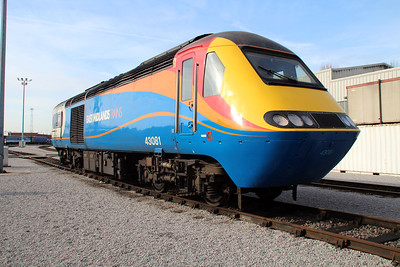 East Mids Power Car 43081 at Neville Hill.