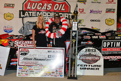 Don O'Neal in Victory Lane - Brownstown Speedway - Jackson 100