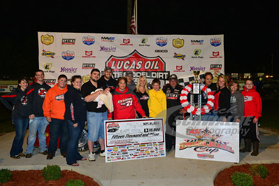 Don O'Neal and crew in Victory Lane - Brownstown Speedway - Jackson 100