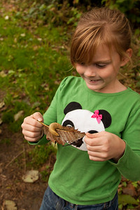 The girls loved finding critters.
