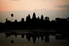 Sunrise at Angkor Wat may not be all it's talked up to be every morning, but watching the temple towers emerge from the black night was an unforgettable experience even without bright sunrise colors.
