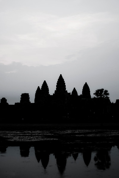 "We spent sunrise at Angkor Wat, watching the day break over the world's largest religious monument, a huge Hindu temple. It's also a symbol of Cambodia, and Khmer architecture at it's finest. You can get more information on the details of Angkor Wat on <a href=""http://en.wikipedia.org/wiki/Angkor_Wat""> wikipedia. </a>"