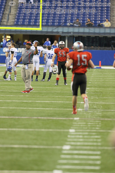 IHSAA state football 2A championship game between Cardinal Ritter and Tipton.    Photo by Eric Thieszen.