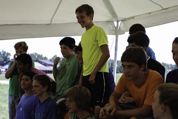 Elijah on the far left during the CIP Rap Session, Friday, July 12.