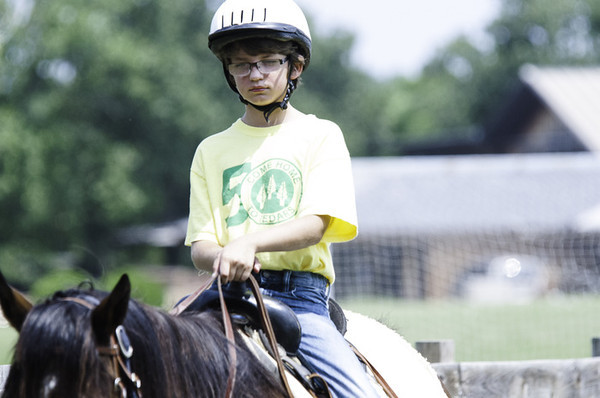 Evan riding on Monday, July 8