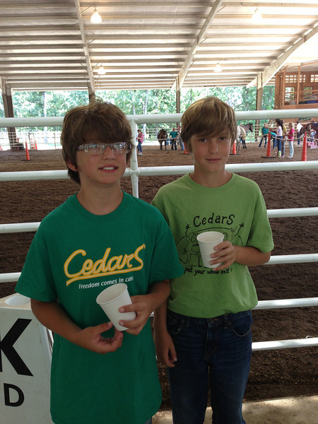 Josh and Evan before the horse show.