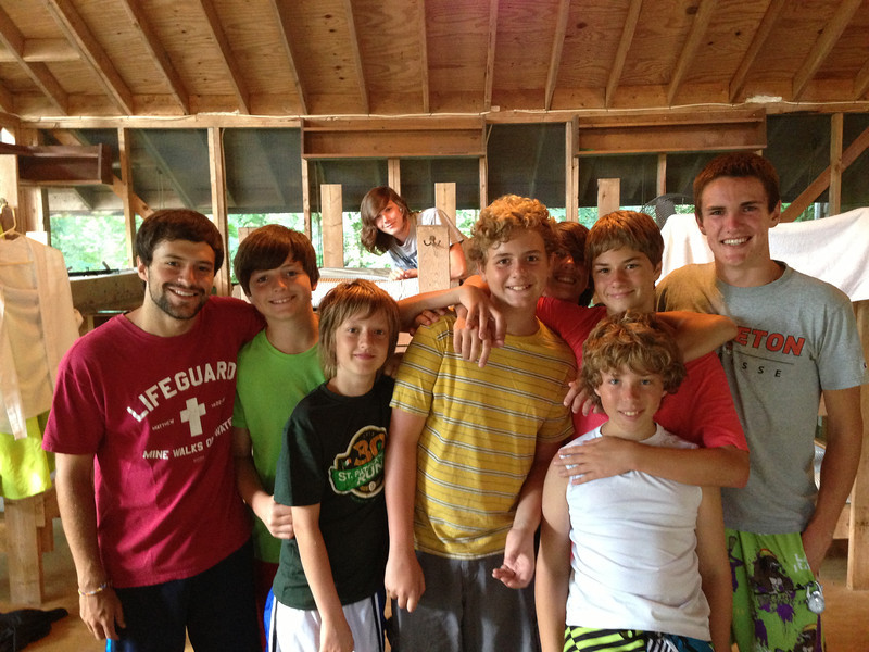 Last morning!  Photo of Elijah and his cabin mates along with a few campers from the Warriors cabin.
