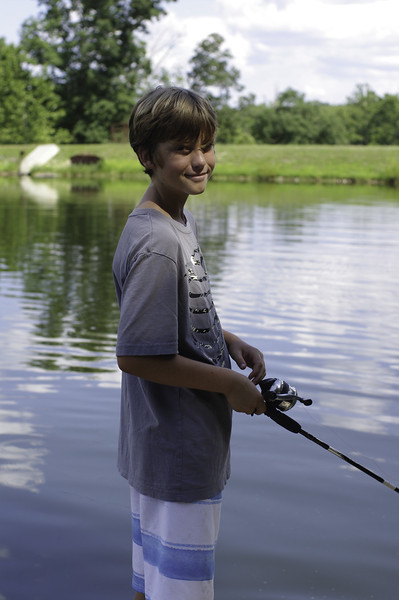 Josh enjoying some fishing time.  He said he caught several fish.