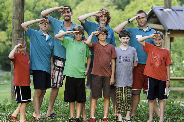 Explorers<br /> Back: Gage (SCIT), Mickey (AD), Sean (CIT), Stephen (CIT)<br /> Front: Mitchell, Joshua, Evan, Matthew, James