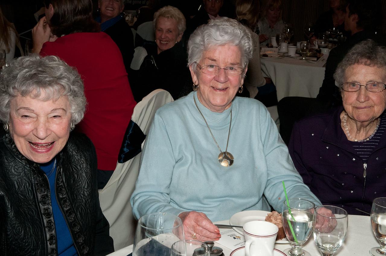 MLGA Past Presenident's Ethel Calnek, Phyllis Bell & Allie Lumsden.