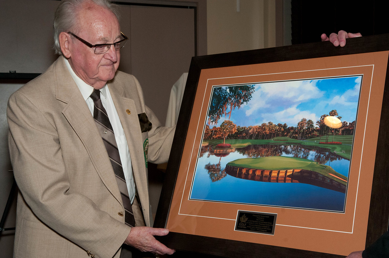 Bob Forcand, 2013 Distinguished Service Award recipient for his many years of service to the MGA and Golf Manitoba