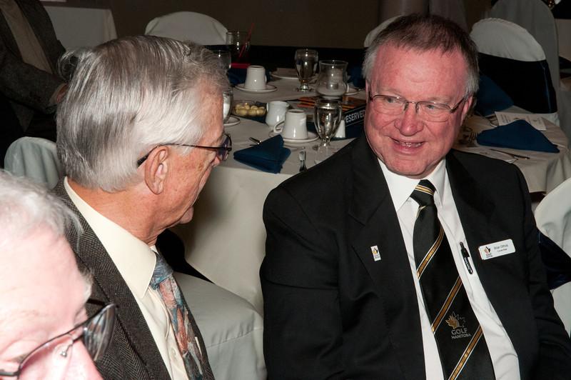 Newest board member Jim Gosman with retiring board & long time board member Brain Gilhuly