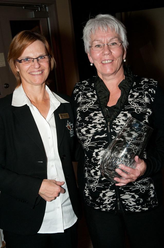 Board Member Tammy Gibson & Ada MacKenzie winner Brenna Raemer from Sandy Hook