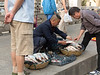 Sidewalk fish vendor