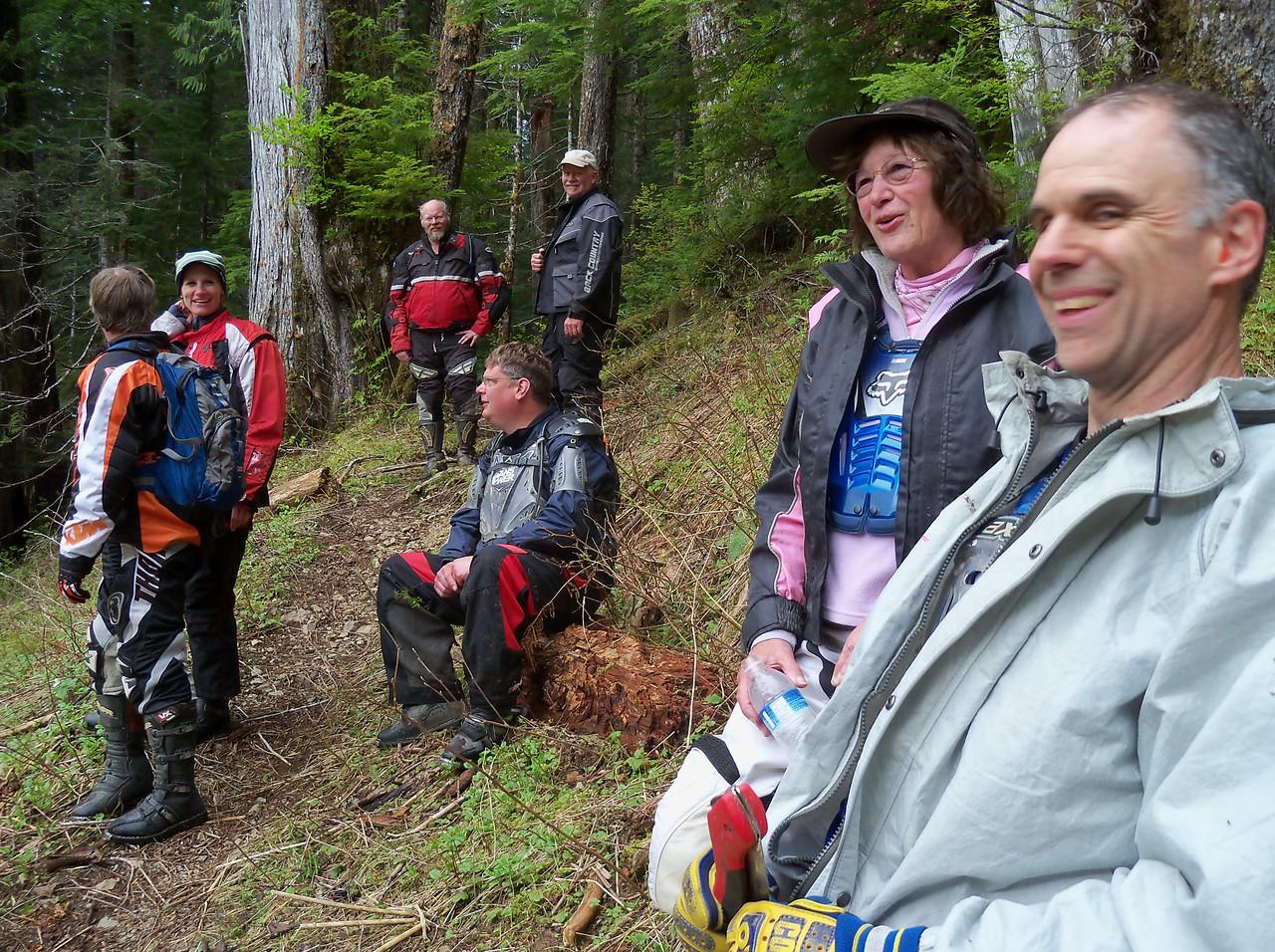 Bob, Dawn,Brian, Anthony on the log, Paul, Sylvia, and Scott...