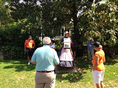 Ashleigh the guide in front of Robert Smalls' house in Beaufort, South Carolina - Leslie Rowley