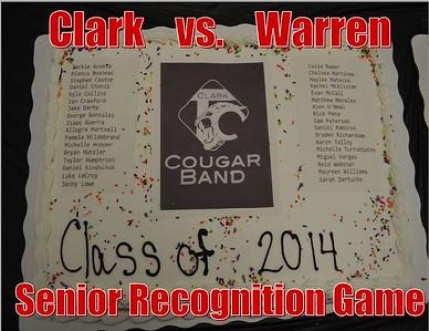 Clark vs Warren Senior Recognition Game