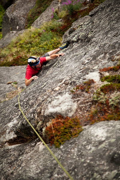 The one-move-wonder of <i>Freedom Roof 5.10</i> goes down at Richard's first attempt.