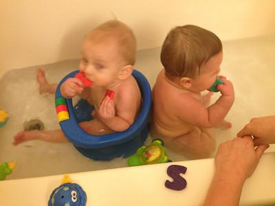 Cousins in the bath