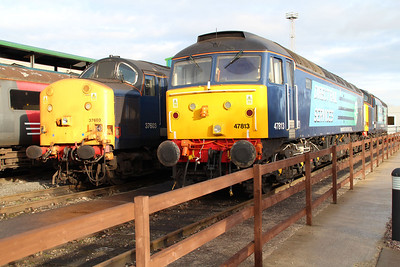 37603 and 47813 'Solent' Crewe Gresty Bridge.